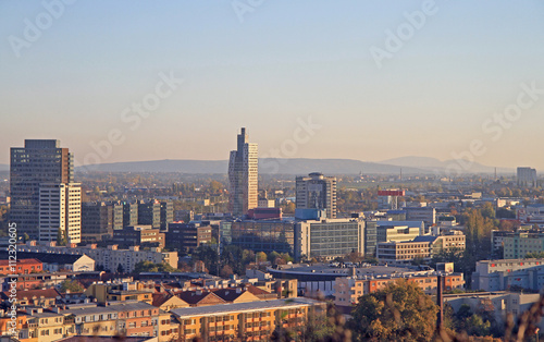 cityscape of Brno, the secong largest city in Czech Wallpaper Mural