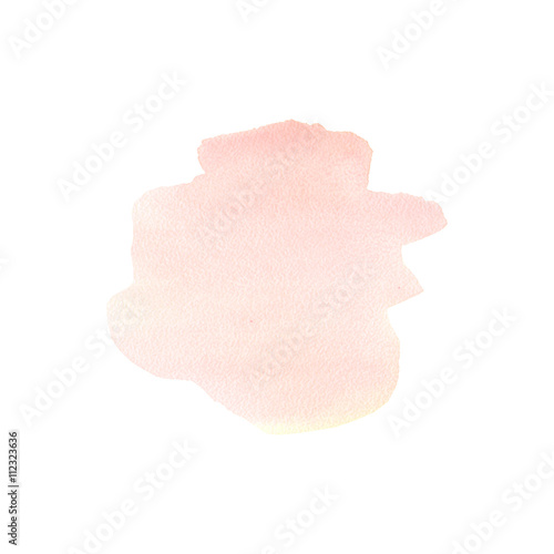 Valokuva  The hand draw abstract art watercolor background of pastel natural delicate shades