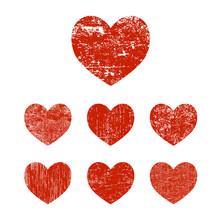 Set Grunge Heart