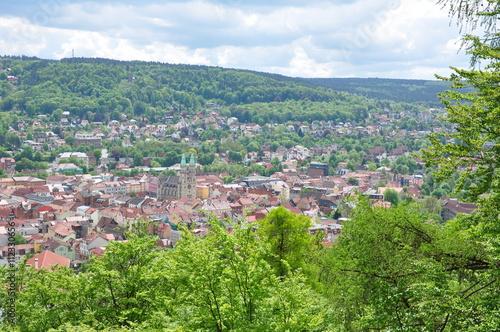 Foto op Plexiglas Groene Blick auf die Altstadt von Meiningen / Thüringen