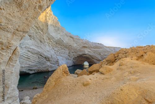 Sykia Cave at Melos Island, Greece