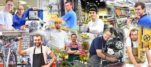 Obraz Portraits von Arbeitern in der Industrie und Handwerk  - fototapety do salonu