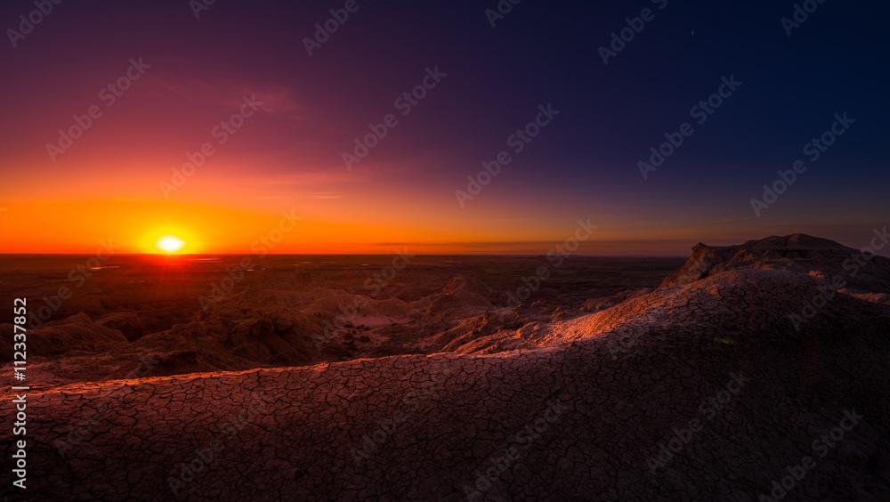 Fototapety, obrazy: Sunrise in Badlands National Park