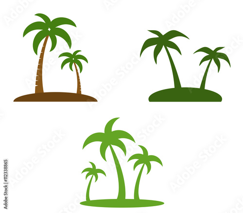 set of palm trees Wall mural