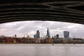 London skyline with River Thames