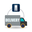 Delivery design. Shopping icon. White background , vector