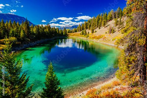 Obraz na plátně  Third Lake, Valley of the 5 Lakes, Jasper National Park, Alberta