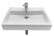 White Wash Basin Isolated On W...