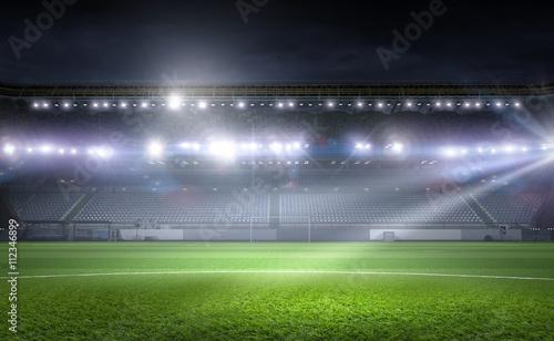 Fototapety, obrazy: Football stadium in lights