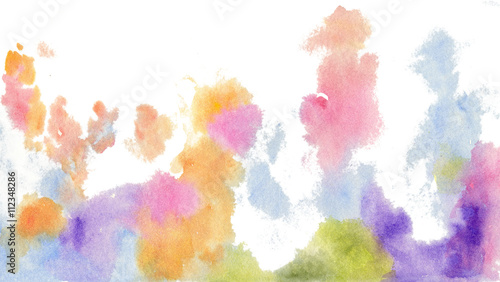 Photo  watercolor background abstract frame