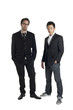 gorgeous businessmen standing on white
