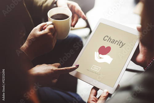 Fotografie, Obraz  Charity Volunteer Donate Hand Symbol Concept