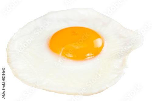 Door stickers Egg Fried Egg isolated on white
