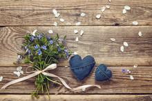 Bouquet Of Blue Wild Flowers A...