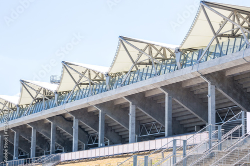 In de dag Stadion White roof over sport stadium