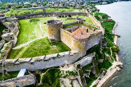 beautiful view on Akkerman fortress in Belgorod-Dniester, Ukraine, aerial photo Canvas Print