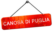 Canosa Di Puglia, 3D Rendering, A Red Hanging Sign