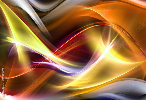 Tuinposter Fractal waves Abstract elegant design