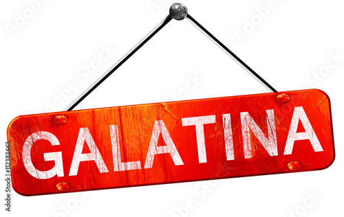 Galatina, 3D rendering, a red hanging sign Canvas-taulu