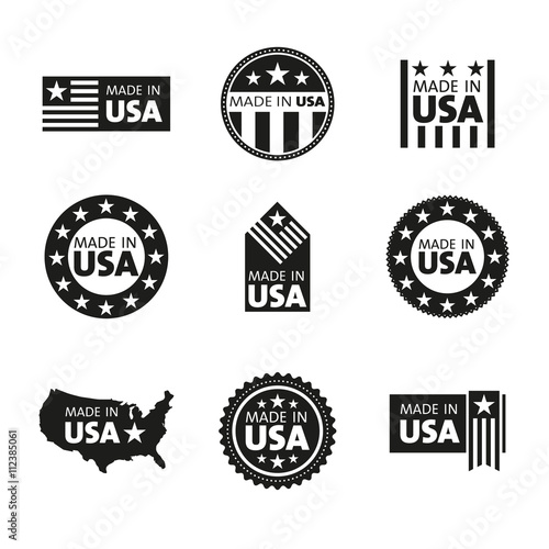 Photographie  Vector set of made in the USA labels