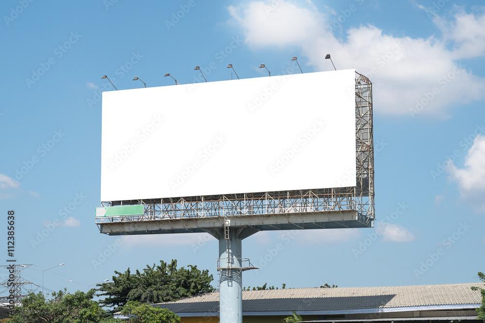 Fototapety, obrazy: Blank Billboard Mockup Template in Bangkok, Thailand