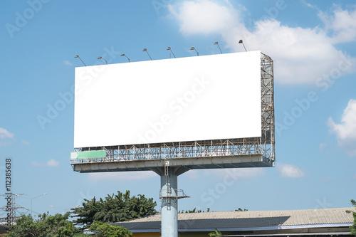 Fotomural  Plantilla maqueta en blanco de la cartelera en Bangkok, Tailandia