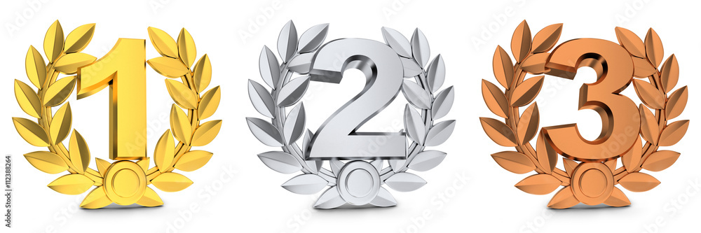 Fototapeta Three symbol winner