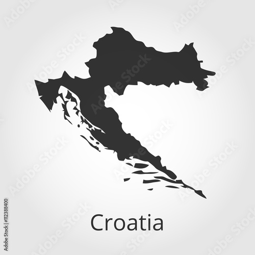 Obraz na plátně Croatia map icon. Vector illustration.