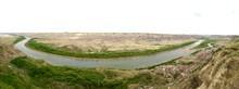 Red Deer River In Den Badlands...