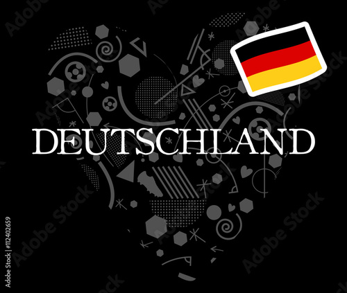 Germany Soccer Symbol 2016 Flat Vector Icon Buy This Stock