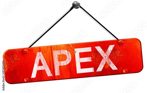 apex, 3D rendering, a red hanging sign Wallpaper Mural