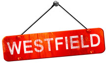 Westfield, 3D Rendering, A Red Hanging Sign