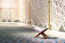 Quran - Holy Book In The Mosque