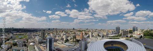 Foto op Plexiglas Stadion Aerial view of Kiev city at summer