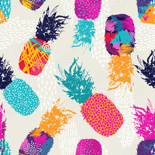 color-retro-pineapple-seamless-pattern-for-summer