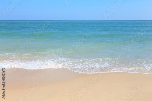 Foto auf Gartenposter Strand Sea wave on sand beach