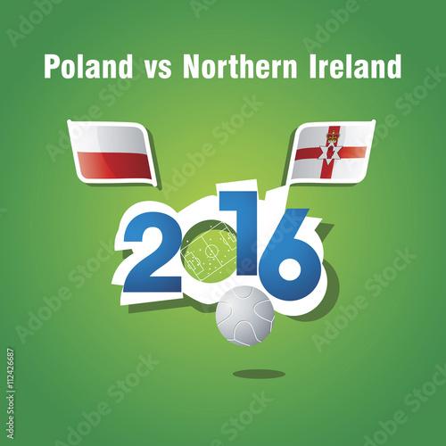 Photo  Euro 2016 Poland vs Northern Ireland vector background