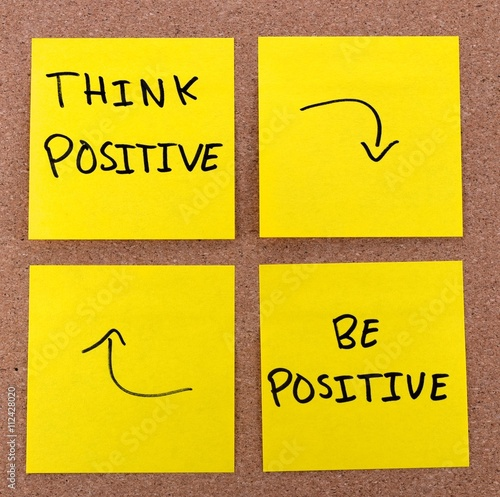 Photo  think positive and be positive cycle