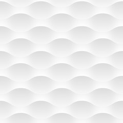 Panel Szklany Iluzja White vector background of abstract waves