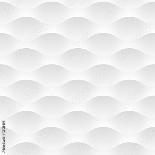 White vector background of abstract waves - 112428604
