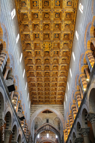 Beautiful ceiling of the Pisa Cathedral (Duomo di Pisa) on Piazz Canvas-taulu