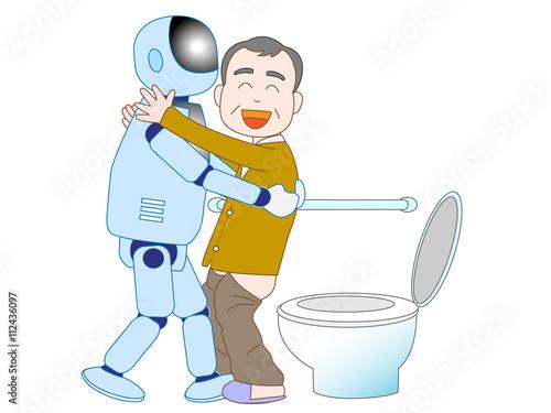 Fotografie, Obraz  高齢者を介護するロボット
