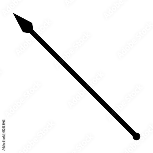 Fotografía Medieval spear weapon with pointed head flat icon for games and websites