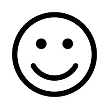 Happy Smiley Face Or Emoticon Line Art Icon For Apps And Websites