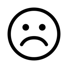 Sad Smiley Face Or Emoticon Li...