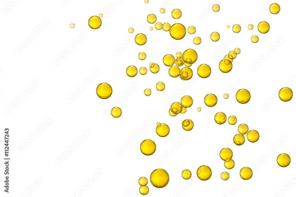 Fototapety, obrazy: Yellow oil bubbles