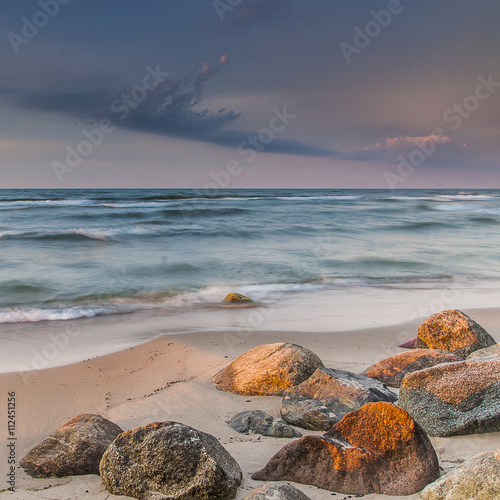 Fotografie, Obraz  beautiful view of the Baltic Sea to the Polish town Rozewie