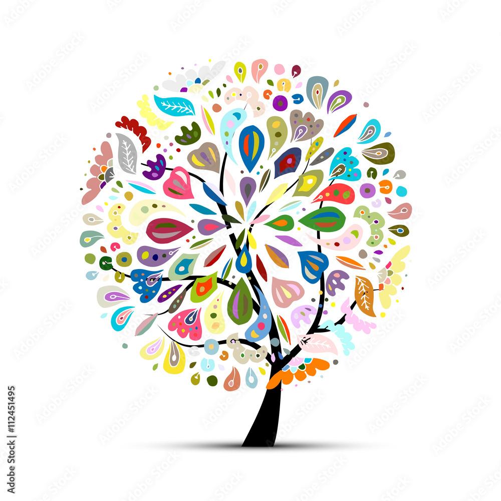 Fotografija  Floral tree for your design
