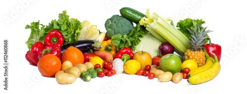 Fotobehang Groenten Gesundes Gemüse als Panorama Hintergrund
