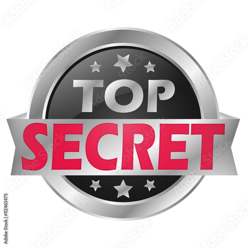 Top Secret Button плакат